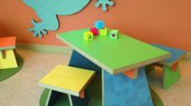 Childrens furniture featuring Formica Anniversary Colours. desk, furniture, material, plastic, play, product, table, toy, wood, yellow, orange