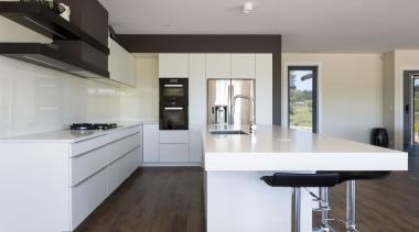 IMGL9857-10 - Dairy Flat Kitchen - architecture   architecture, countertop, floor, flooring, furniture, hardwood, interior design, kitchen, laminate flooring, product design, real estate, wood, wood flooring, gray