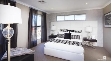 Master ensuite design. - The Lexington Two Storey bedroom, ceiling, home, interior design, property, real estate, room, gray