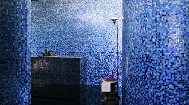 Gerbera blend. - Bisazza Range - architecture | architecture, blue, light, lighting, purple, sky, wall, blue