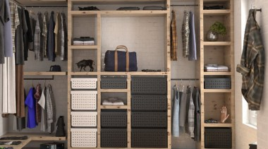 Tanova Ventilated Drawers in Wardrobe Setting - Classic cabinetry, closet, furniture, room, wardrobe, gray, black