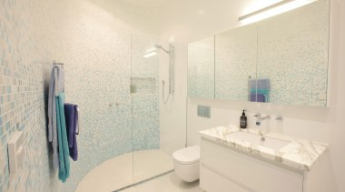 Winner Bathroom of the Year 2013  Victoria bathroom, daylighting, floor, home, interior design, property, real estate, room, sink, tile, wall, white