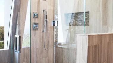 Walk in shower - Walk in shower - bathroom, floor, flooring, interior design, plumbing fixture, shower, tile, gray
