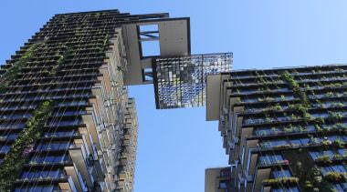 Sydney's One Central Park has been named Asia architecture, building, city, condominium, daytime, facade, metropolis, metropolitan area, mixed use, residential area, sky, skyscraper, tower block, urban area, teal, black