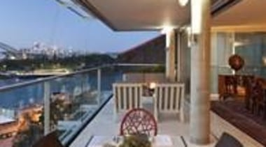 Balcony with Sydney Harbour views - Balcony with apartment, interior design, patio, penthouse apartment, property, real estate, roof, gray