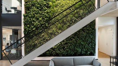 Living Wall - Vertical Garden - architecture | architecture, chair, daylighting, furniture, home, house, interior design, living room, table, window, gray