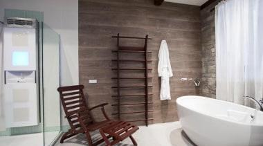 Vedana Care Unit, part of this Insperience Bathroom bathroom, ceiling, floor, flooring, home, interior design, plumbing fixture, room, gray