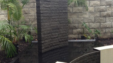 IMG 1 - landscaping | outdoor structure | landscaping, outdoor structure, stone wall, walkway, wall, black, gray