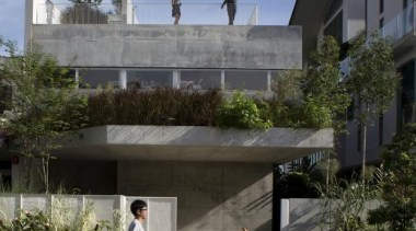 Terrace House, singapore, SingaporeFORMWERKZ ARCHITECTS architecture, building, house, neighbourhood, property, real estate, residential area, black, gray