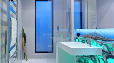 Winner Bathroom Design of the Year South Australia architecture, blue, glass, interior design, gray, teal