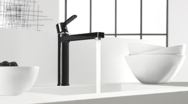Kludi Zenta 02 - Kludi Zenta 02 - angle, bathroom, bathroom sink, black and white, ceramic, plumbing fixture, product, sink, tap, white