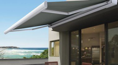 luxaflex como awning 2 - luxaflex como awning house, outdoor furniture, real estate, roof, shade, black, teal