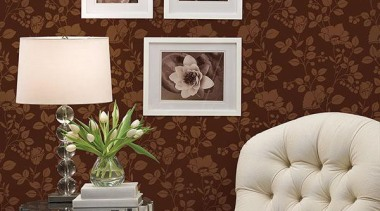 Norwall Room Simply Silks - Simply Silks II couch, furniture, interior design, living room, wall, wallpaper, brown, gray, red