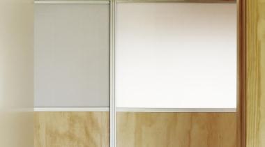 Waitakere Ranges - Studio 19 VisionWest Community Housing cabinetry, door, floor, hardwood, plywood, shelf, wall, wood, wood stain, gray, brown