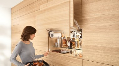 Lift Up System - AVENTOS HL - floor floor, flooring, interior design, wood, orange