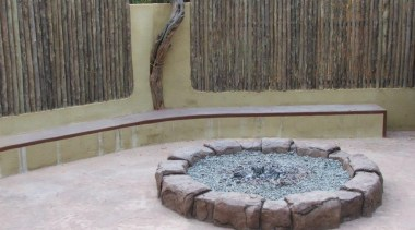 Dcocrete 52 - Dcocrete_52 - backyard | fence backyard, fence, landscape, landscaping, outdoor structure, wall, water feature, yard, gray
