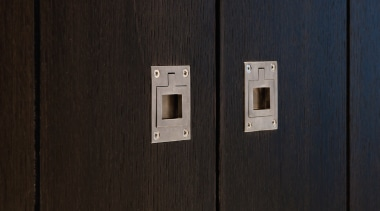 PB60 - Flush Ring. Available in Satin Stainless line, wood, black