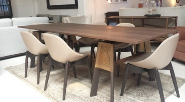 dining table with brass.jpg - dining_table_with_brass.jpg - chair chair, dining room, furniture, kitchen & dining room table, table, white