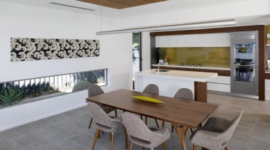 Winner Kitchen Design of the Year 2013 Western architecture, house, interior design, property, real estate, table, window, gray