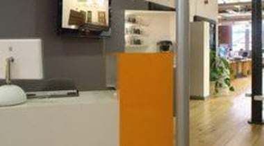 Mankin Architecture UK, reception counter featuring Formica AR+ floor, flooring, product, gray