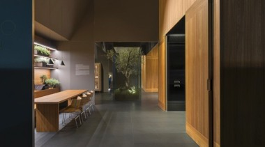 Arclinea 'Principia' Eurocucina display - Arclinea 'Principia' Eurocucina architecture, floor, house, interior design, wood, black