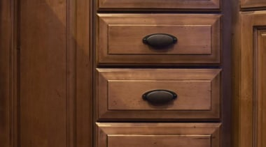 Cabinet Details - Cabinet Details - bathroom accessory bathroom accessory, bathroom cabinet, cabinetry, chest of drawers, countertop, drawer, filing cabinet, floor, flooring, furniture, hardwood, kitchen, room, sideboard, sink, wood, wood flooring, wood stain, brown, red