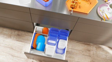 AMBIA-LINE inner dividing system – organization at its box, floor, furniture, plastic, product, product design, shelf, table, white, brown