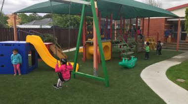 Commercial landscape - canopy | chute | city canopy, chute, city, grass, leisure, outdoor play equipment, play, playground, playground slide, public space, recreation, brown