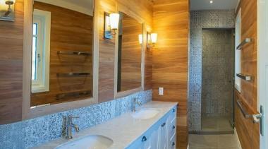 Entrant: Valda Frewen – 2015 NKBA Design Awards bathroom, countertop, estate, floor, flooring, home, interior design, property, real estate, room, tile, wood, brown, gray