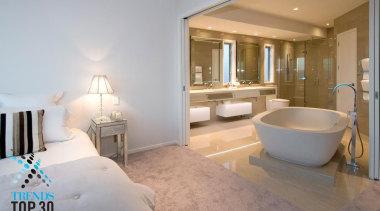 An elegant bathroom design with a majestic freestanding bathroom, ceiling, estate, floor, home, interior design, property, real estate, room, suite, gray