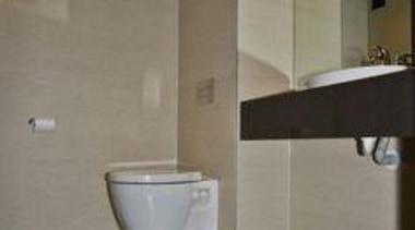Bathroom walls featuring Naturali Travertino Avorio and Floor bathroom, bathroom sink, floor, flooring, interior design, plumbing fixture, room, sink, tap, tile, wall, wood flooring, gray, black