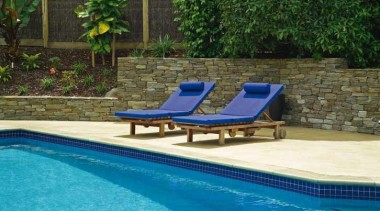 pol0005web.jpg - pol0005web.jpg - backyard | furniture | backyard, furniture, leisure, outdoor furniture, outdoor structure, property, sunlounger, swimming pool, brown