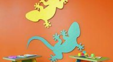 Decorative lizards on the wall in two colours art, cartoon, orange, product, orange