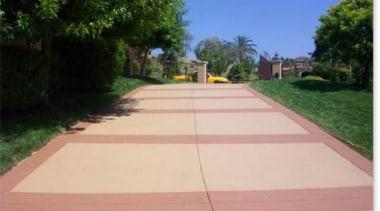 Overlay_48 - area | asphalt | driveway | area, asphalt, driveway, grass, land lot, landscape, landscaping, lawn, path, property, real estate, road surface, roof, sidewalk, walkway, orange