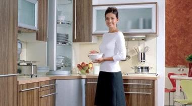 Revolving unit - Revolving unit - furniture   furniture, home appliance, interior design, kitchen, kitchen appliance, professional, refrigerator, room, shoulder, standing, window, gray, brown