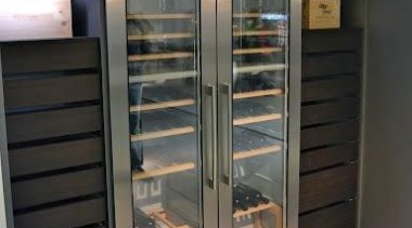 Modern Wine Cellar Ideas - Modern Wine Cellar display case, home appliance, kitchen appliance, major appliance, refrigerator, black, gray