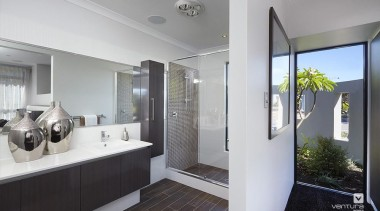 Ensuite design. - The Montrose Display Home - architecture, home, house, interior design, property, real estate, window, gray
