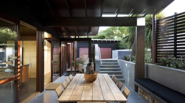 Waiheke Island, Auckland - Owhanake Bay - house house, interior design, outdoor structure, patio, real estate, black