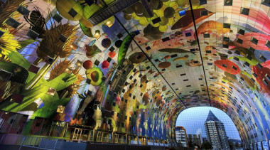 The Markthal Rotterdam is a market hall unlike tourist attraction, brown