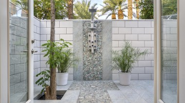 Luz Marina Selles of Allure Designs, Arizona architecture, courtyard, facade, home, outdoor structure, property, real estate, wall, gray