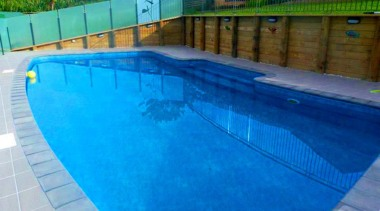 Bronze Award recipient for Residential Swimming Pools under area, backyard, composite material, fence, leisure, leisure centre, property, swimming pool, water, water resources, teal
