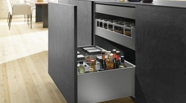LEGRABOX pure - Box System - countertop | countertop, floor, flooring, furniture, home appliance, kitchen, product design, black, white