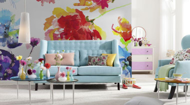 Passion Interieur - Italian Color Range - couch couch, furniture, home, interior design, living room, pink, purple, room, wall, white, gray