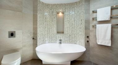 Highly Commended – Owen Barnes, Bubbles Bathrooms bathroom, bathroom sink, bidet, ceramic, floor, flooring, interior design, plumbing fixture, room, sink, tap, tile, toilet seat, gray