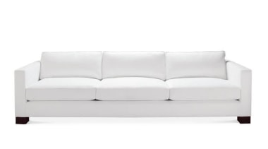 """My natural inclination for grandeur prompts me to angle, couch, furniture, loveseat, product, product design, sofa bed, white"