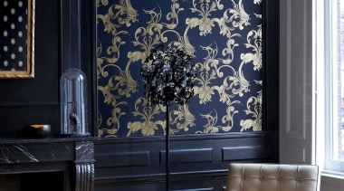 Gardens of Amsterdam Range - Gardens of Amsterdam furniture, home, interior design, living room, wall, wallpaper, window, black