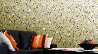 Modern Style Range - Modern Style Range - interior design, living room, orange, table, wall, wallpaper, yellow