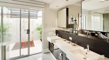 Ensuite design. - The New Dimension Display Home interior design, room, sink, white