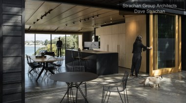 Winner – Strachan Group Architects – TIDA New furniture, interior design, table, black, gray
