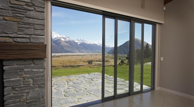 Rugged natural outlook. - Glenorchy mountain view - daylighting, door, estate, home, house, property, real estate, wall, window, gray, black